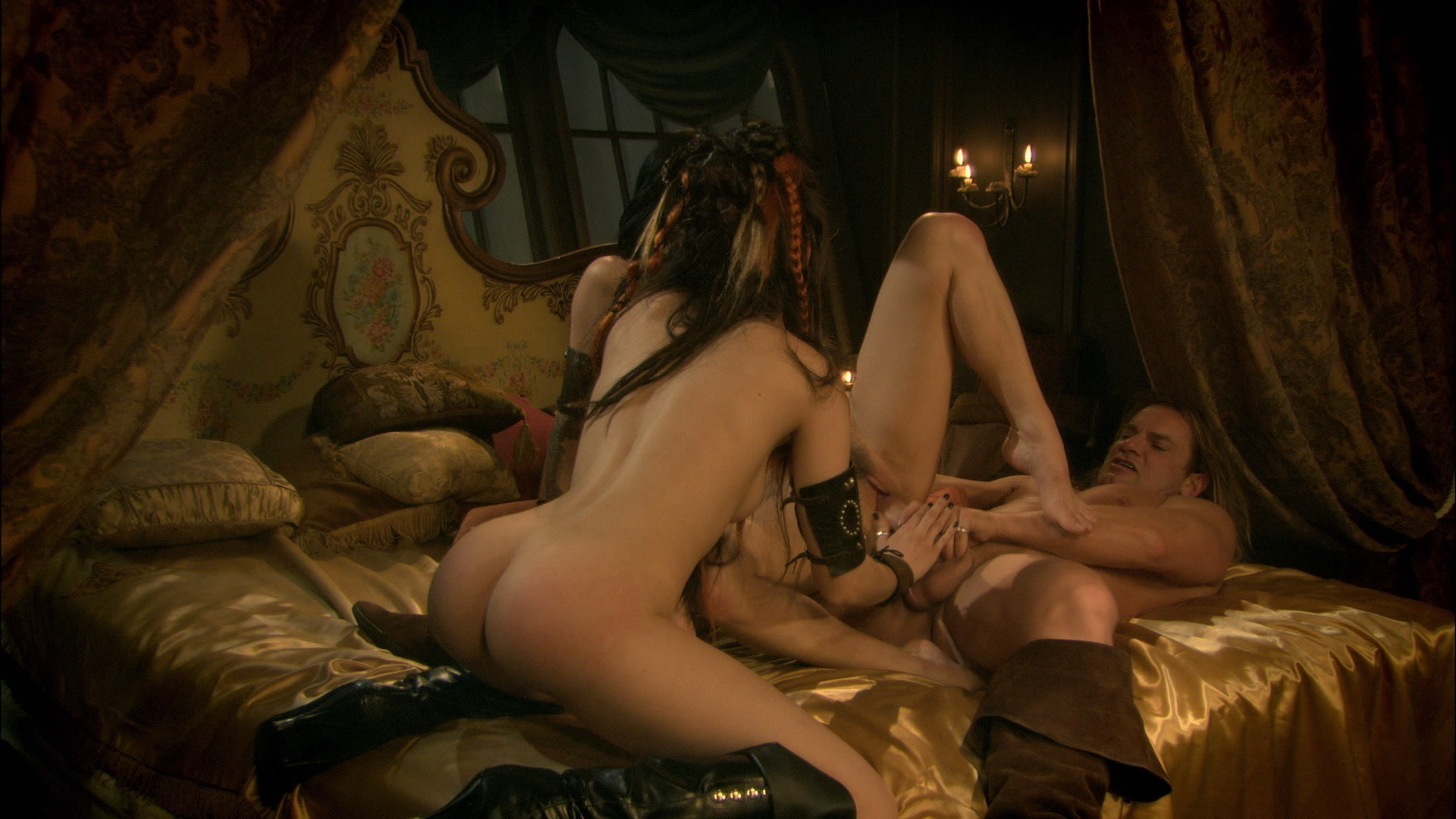 hot sexy women having sex with her pillow